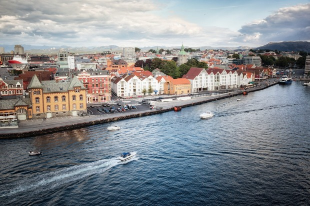 Near the city of Stavanger, pictured,  one plotted solution is the world's longest underwater road tunnel, which will ...