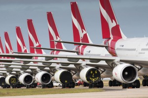 Qantas suspended international flights due to the COVID-19 outbreak, while several other carriers have continued to fly ...