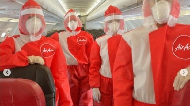 Critics of AirAsia's 'revealing' flight attendant uniforms will have little to complain about now.