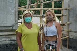 Anastasia Strelevske and her mother Larysa, from Ukraine, decided to ride the pandemic out in Bali instead of back in ...