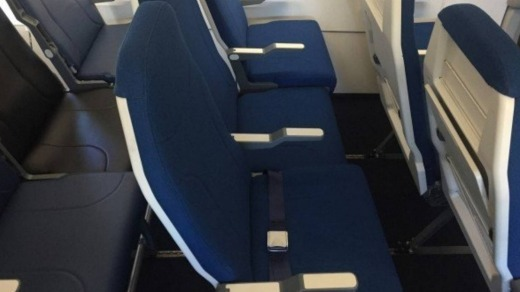 SUPPLIED Some airlines are keeping the middle seats free to reduce contact between passengers.