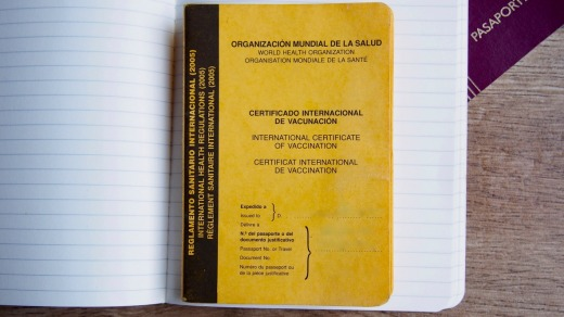 The yellow fever vaccine underpins the authority of the yellow International Vaccination booklet for travellers.