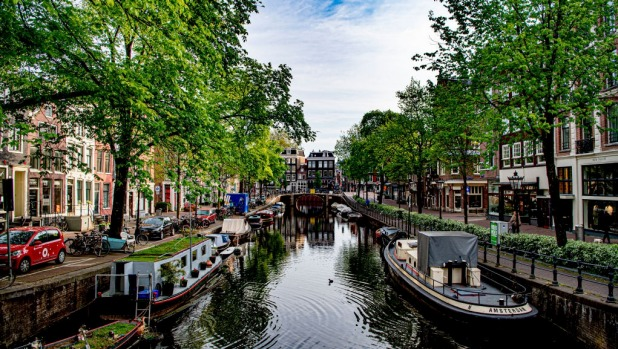 The canals empty and deserted during the government imposed lockdown.