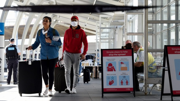 Sydney Airport is operating at about 2 per cent of its normal passenger volumes.