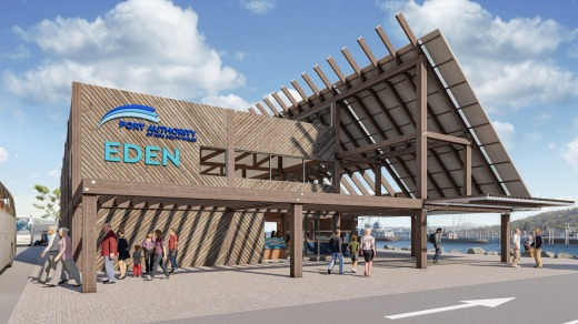 The design for Eden's planned Welcome Centre for cruise ship passengers.