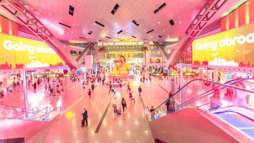 Hamad International Airport in Doha, Qatar, has been named the world's best airport for 2021, despite reviews placing it ...