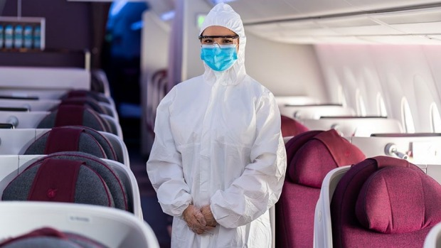 Cabin crew will now wear suits over their uniforms.