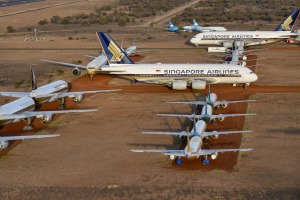 Singapore Airlines is storing some of its grounded aircraft near Alice Springs, while Qantas has opted to send its ...