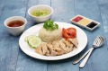 Hainanese chicken rice, singapore cuisine iStock image for Traveller. Re-use permitted. tra27-online-dishes