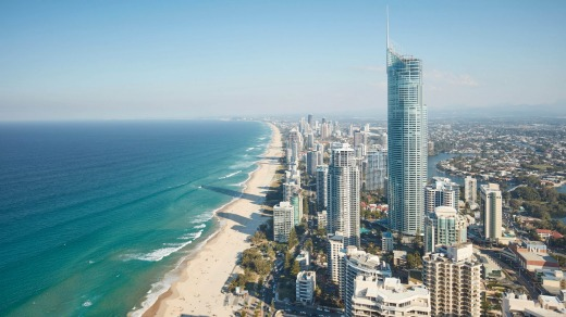 Surfers Paradise. Victorians normally make up about 25 to 30 per cent of domestic tourists in Queensland.