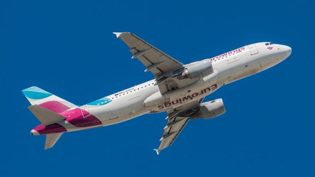 The Eurowings flight had set off from Düsseldorf in Germany to the Sardinian airport of Olbia.