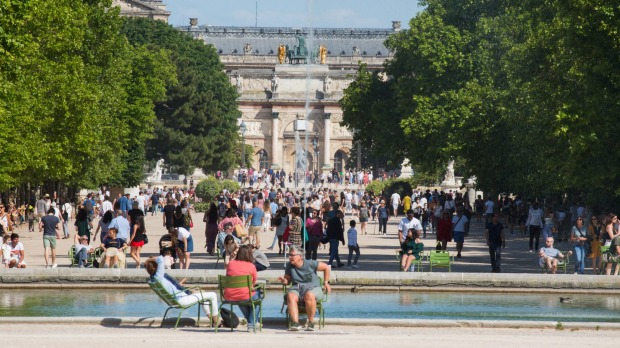 Jardin des Tuileries reopened on Saturday after more than two months of closure.