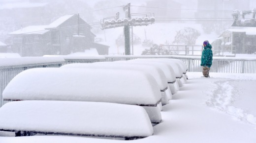 Snowfalls at Mount Hotham in early June.