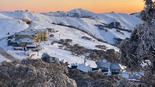 Mount Hotham's slopes pictured here in June, is once again empty.