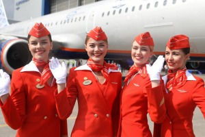 What symbol does Russian airline Aeroflot use in its logo?