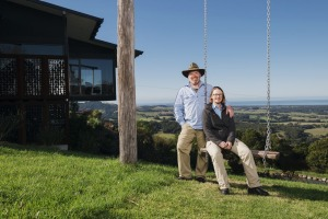 """Anthony Houghton and his wife Louise Hallam run the Mt Hay Retreat in Berry. """"It's been absolutely crazy - the long ..."""