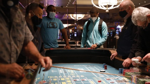 The Bellagio has doubled down on safety, with lots of partitions separating video poker machines, blackjack and poker ...