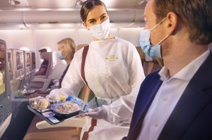Flying with masks, for cabin crew and passengers, will become common practice.