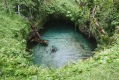 Taking a dip in the magnificent To Sua ocean trench.