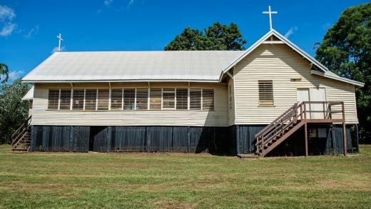 The Catholic church on Bathurst Island, as featured in the film Top End Wedding.