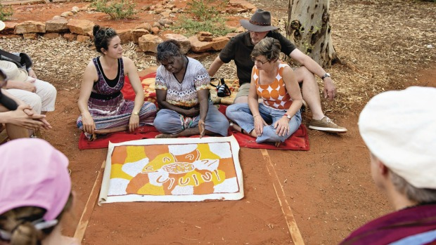 A dot painting workshop with local Indigenous artists.