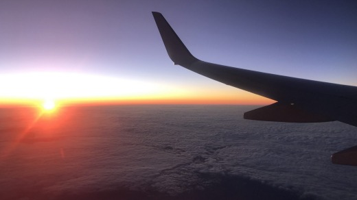 It felt great to fly again and the sunset above a blanket of clouds on the return flight was a real treat.