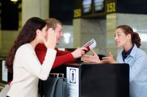 It should be the passenger's responsibility to check visa requirements before travelling.