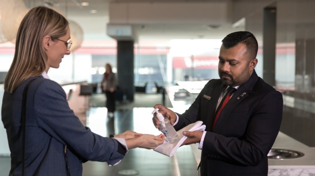 Some Qantas lounges will open on July 1 with new hygiene measures in place.