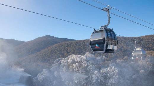 Thredbo resort in NSW launched its new gondola in June 2020. It's the only gondola operating in an Australian snow resort.