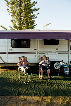 Gary and Karen Kennedy from Shepparton, Victoria, make an annual migration with their caravan to Queensland for winter.