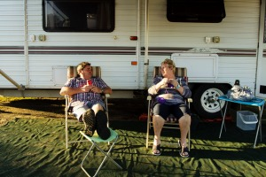 Gary Kennedy and his wife Karen from Shepparton in Victoria are waiting in Ballina, northern NSW for the Queensland ...