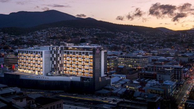 The new Crowne Plaza Hobart is one of the largest hotels in Tasmania.