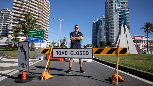 Coolangatta. The Queensland state border will open on Friday at midday.