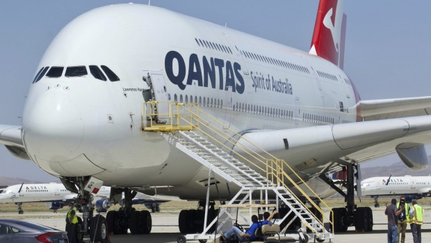 Qantas' Airbus A380 fleet has been put into storage in California awaiting the resumption of international travel.