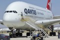 Qantas Airbus A380 after arriving at the storage facility in the Californian desert in July last year. The airline plans ...