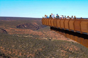 The Kalbarri Skywalk, in the state's Coral Coast region about 500 kilometres north of Perth, offers spectacular views of ...
