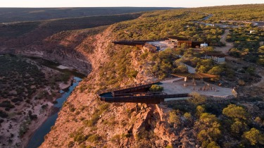 The platforms stand 100 metres above the gorge and the development showcases the culture and stories of the region's ...