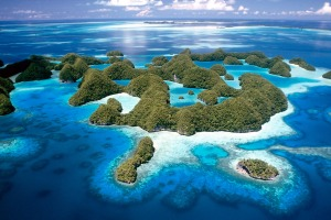 Jellyfish Lake, set amid the Rock Islands, part of the Pacific paradise of Palau.