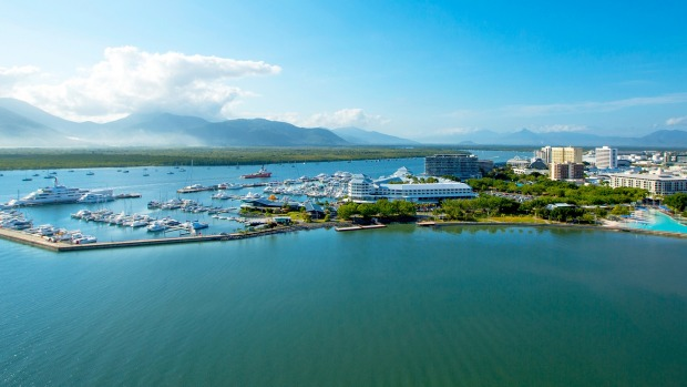 The iconic Shangri-La Hotel, The Marina, Cairns is a five-star resort-style hotel.