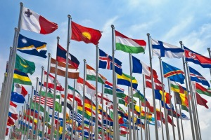 Most national flags feature just two, three or four colours. Which country's flag has six?