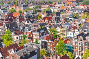Enjoy the city of Amsterdam from afar, while they don't want tourists near.