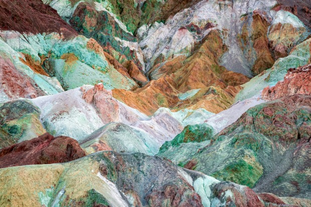 Artist's Palette, California: In the scorching, done dry desert of Death Valley National Park, there are some extremely ...