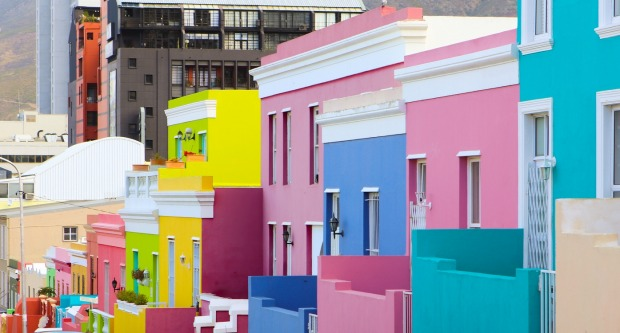 Bo Kaap, South Africa: Cape Town has such a beautiful natural setting that it really doesn't need human help, but in the ...