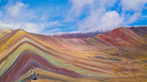 Rainbow Mountain, Peru: A two hour drive, then a 5km hike from the city of Cusco, the mountain known locally as ...
