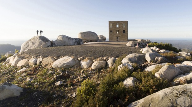 The Keep offers 360 degree views over wilderness including the Blue Tier Forest Reserve and beyond to the coastline ...