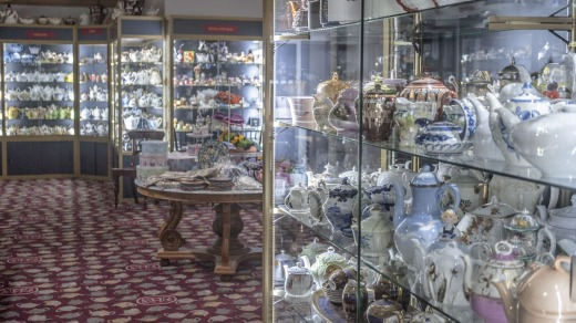 You'll get more than a hot drink when you book a table at Bygone Beautys Treasured Teapot Museum and Tearooms.