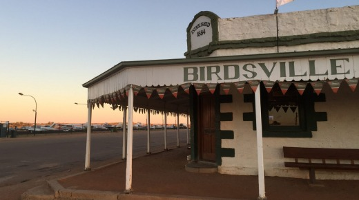 The ultimate arrival is reserved for the Birdsville Hotel where the plane will taxi to the front door.