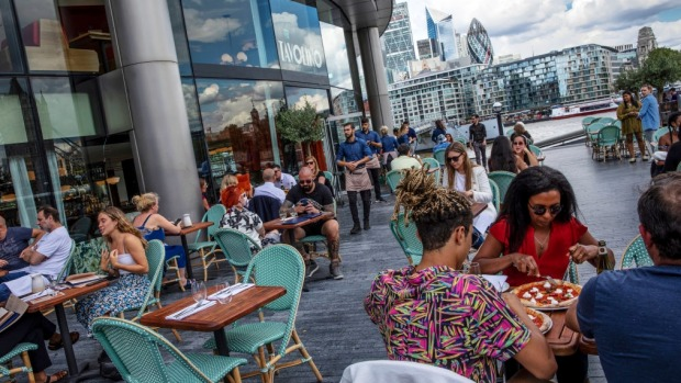 Throughout August, the British government will subsidise a 50 per cent discount on meals at participating establishments.