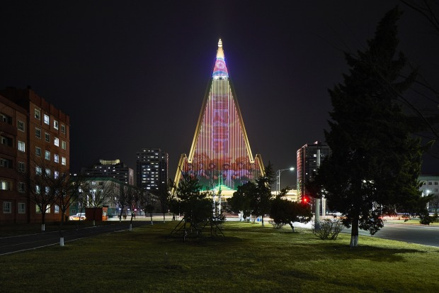 One of the hotels featured in the book is the infamous Ryugyong Hotel - a giant, 105-storey structure, reportedly with ...
