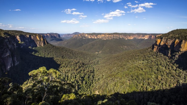 The Grose Valley seen from Govetts Leap lookout in the Blue Mountains.